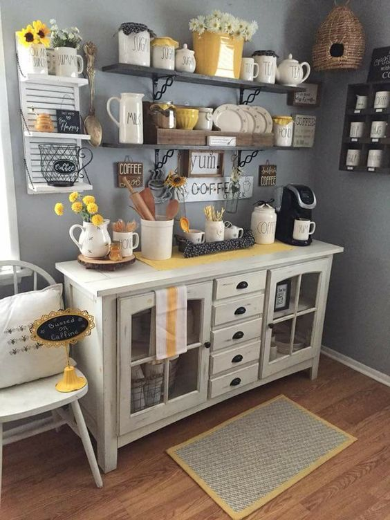 Coffee Bar Kitchen: 30+ Stylish Home Coffee Bar Ideas (Stunning Pictures